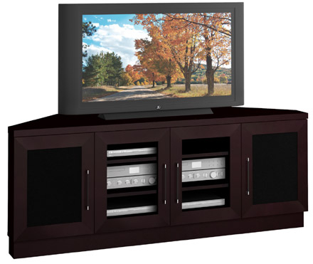 """Furnitech Ft60Ccc – 60"""" Wide Contemporary Corner Tv Stand Intended For Favorite Tv Stands For Corners (View 2 of 15)"""