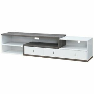"""Furniture Of America Roxi 83"""" Tv Stand In Gray And White Inside 2017 Delphi Grey Tv Stands (View 13 of 15)"""