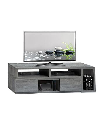 """Furniture Techni Mobili Adjustable Tv Stand Console With Regard To Famous Techni Mobili 53"""" Driftwood Tv Stands In Grey (View 11 of 15)"""