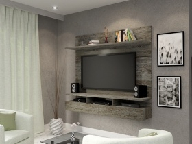 Furniturespot Intended For Popular High Glass Modern Entertainment Tv Stands For Living Room Bedroom (View 15 of 15)