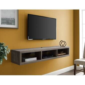 George Oliver Lemington Entertainment Center For Tvs Up To In Fashionable Single Shelf Tv Stands (View 11 of 15)