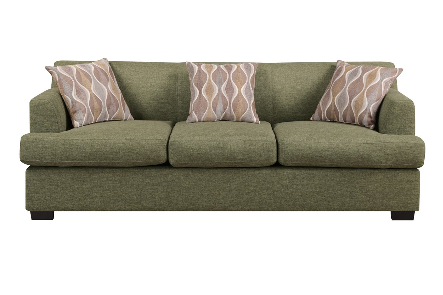 Green Fabric Sofa – Steal A Sofa Furniture Outlet Los Throughout Green Sectional Sofas (View 14 of 15)