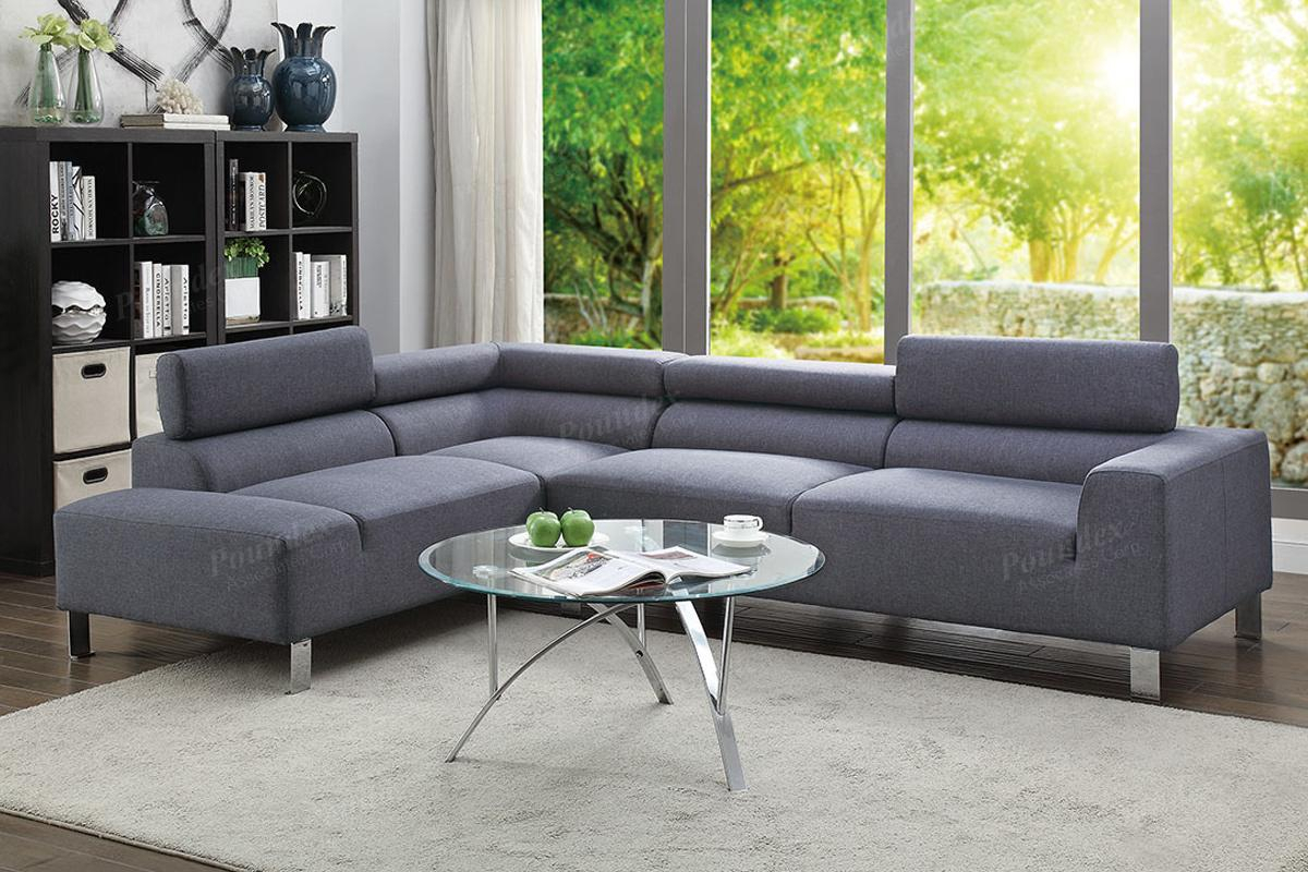 Grey Fabric Sectional Sofa – Steal A Sofa Furniture Outlet For Los Angeles Sectional Sofas (View 12 of 15)