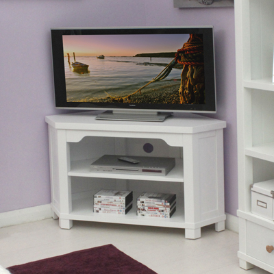 Hampton White Corner Tv Cabinet – Robson Furniture With Regard To 2017 Coffee Tables And Tv Stands Matching (View 2 of 15)