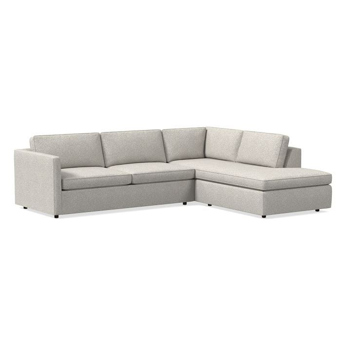 """Harris Sectional Set 11: Left Arm 75"""" Sofa, Right Arm Throughout Dulce Right Sectional Sofas Twill Stone (View 2 of 15)"""