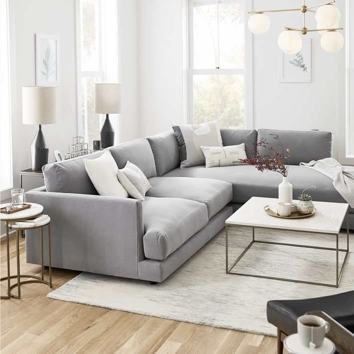 Haven 2 Piece Terminal Chaise Sectional | West Elm | Deep With Regard To Elm Grande Ii 2 Piece Sectionals (View 6 of 15)