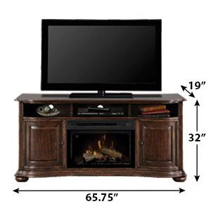 Henderson Distressed Cherry Electric Fireplace Within Most Popular Fulton Oak Effect Corner Tv Stands (View 11 of 12)