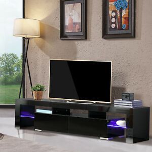 High Gloss Black Tv Stand Unit Cabinet 2 Drawers Console In 2017 Led Tv Cabinets (View 10 of 15)