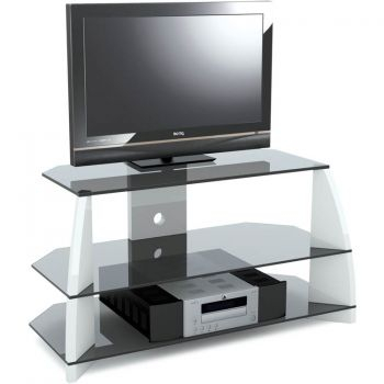 """High Gloss White Corner Tv Stand For Up To 51"""" In Most Recently Released White High Gloss Tv Stands (View 10 of 15)"""