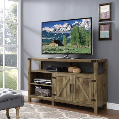 """Highboy Tv Stand Regarding Most Popular Modern Farmhouse Style 58"""" Tv Stands With Sliding Barn Door (View 13 of 15)"""