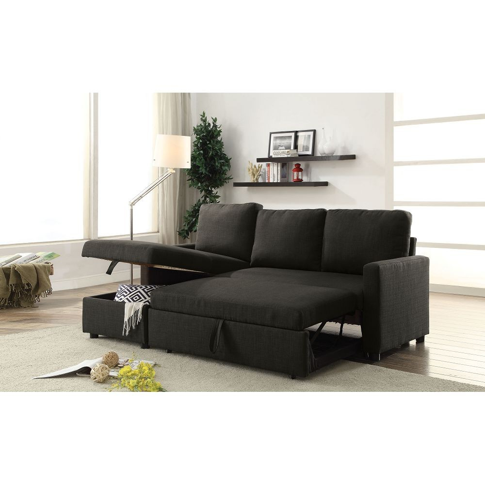 Hiltons Sectional Sofa With Sleeper And Storage Intended For Palisades Reversible Small Space Sectional Sofas With Storage (View 12 of 15)