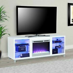 """Home Lumina Fireplace Tv Stand For Tvs Up To 70"""" , White With Regard To Most Current Ameriwood Home Rhea Tv Stands For Tvs Up To 70"""" In Black Oak (View 10 of 15)"""