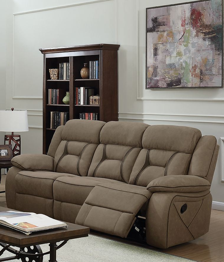 Houston Tan Motion Sofa From Coaster | Coleman Furniture In Houston Sectional Sofas (View 7 of 15)