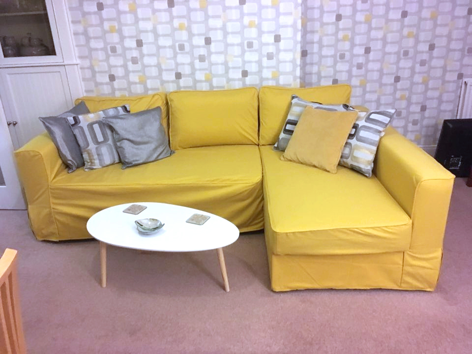 Ikea Manstad Sofa In Comfort Works' Shire Mustard Sofa For Manstad Sofas (View 4 of 15)