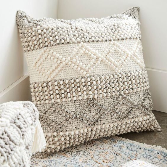 Indian Handwoven Pillow Cover 18 X 18 Cushion Cover Throughout Magnolia Sectional Sofas With Pillows (View 8 of 15)
