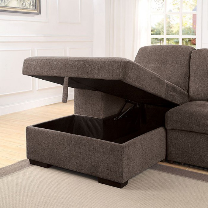 Jamiya Sectional Sofa With Storage Compartment With Sectional Sofas With Storage (View 14 of 15)