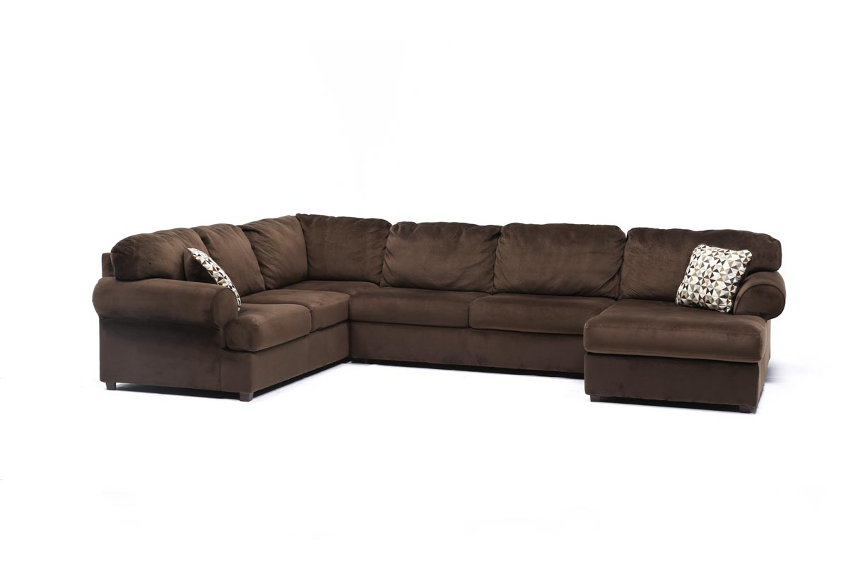 Jessa Place Chocolate 3 Piece Sectional W/Raf Chaise Regarding Norfolk Chocolate 3 Piece Sectionals With Raf Chaise (View 9 of 15)