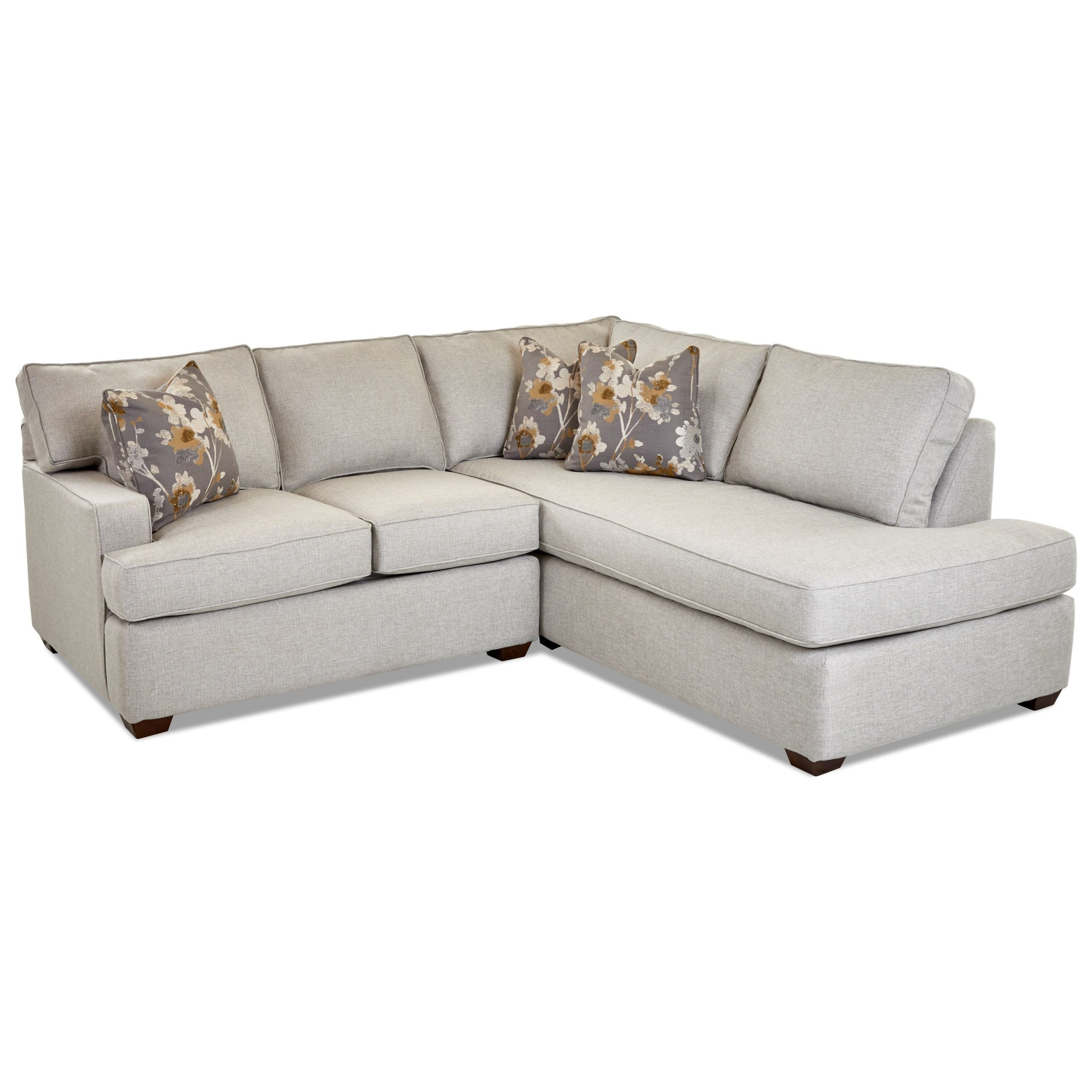 Klaussner Selection Contemporary 2 Piece Chaise Sofa W Throughout Evan 2 Piece Sectionals With Raf Chaise (View 14 of 15)