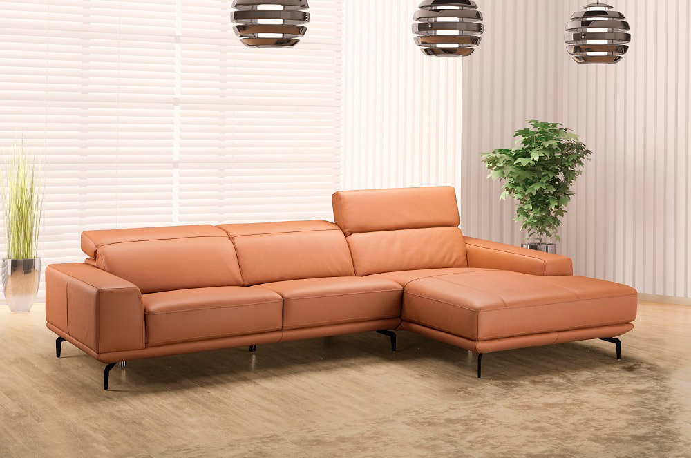 Lara Leather Sectional Sofa   Leather Sectionals In Sectional Sofas (View 3 of 15)