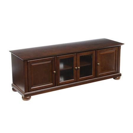 Large Alexandria Media Console In Vintaged Mahogany (View 9 of 15)