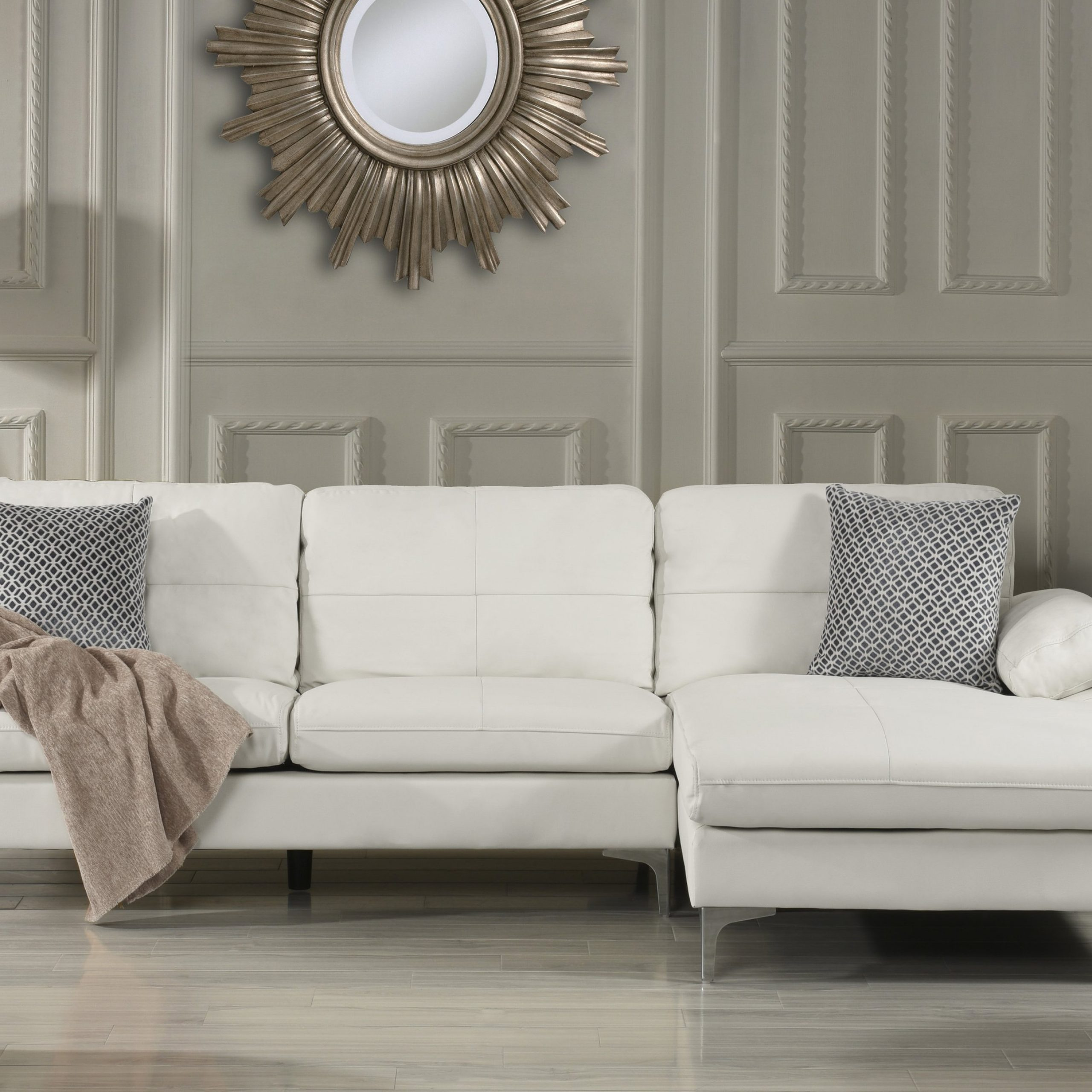 Large Leather Sectional Sofa, L Shape Couch With Chaise Throughout Oversized Sectional Sofas (View 4 of 15)