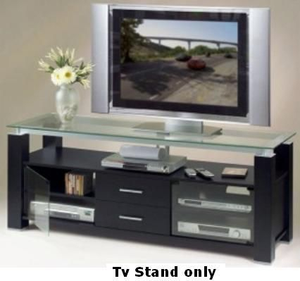 Latest Bromley Black Wide Tv Stands With Regard To Elite El 996 Wide Tv Stand And Audio Rack In Sleek Black (View 2 of 15)