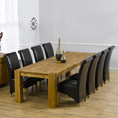 Latest Bromley Oak Tv Stands Inside Montana Solid Oak 300Cm Dining Table With 10 Bromley (View 11 of 15)