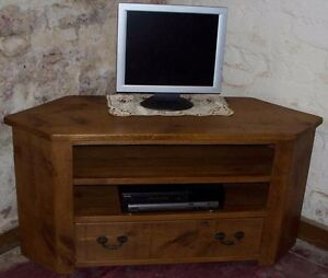 Latest Corona Grey Corner Tv Stands Within Rustic Plank Pine Furniture New Solid Wood Corner Tv (View 13 of 15)