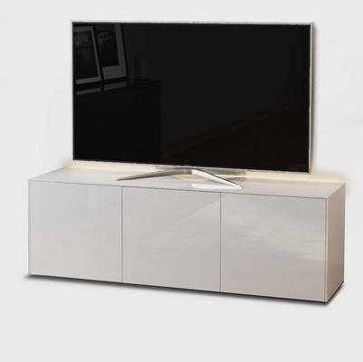 Latest High Gloss Tv Cabinets Intended For High Gloss White Tv Cabinet 150Cm With Wireless Phone (View 6 of 15)