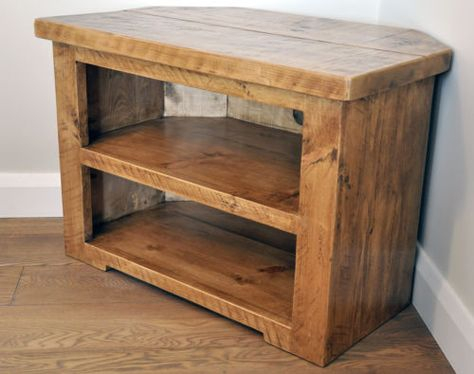 Latest Rustic Corner Tv Stands With Rustic Pine Corner Tv Unit Solid Chunky Wood Stand Cabinet (View 2 of 15)