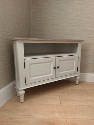 Latest White Corner Tv Cabinets Throughout French Country White Corner Tv Unit Cabinet / Stand 100Cm (View 5 of 15)