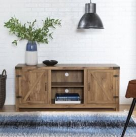 Latest Woven Paths Farmhouse Barn Door Tv Stands In Multiple Finishes In Walmart Coupons (September 2021 Promo Code, Free Shipping (View 10 of 14)
