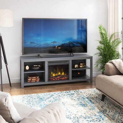 """Latitude Run® Chabalo Tv Stand For Tvs Up To 65"""" With Within Well Known Rickard Tv Stands For Tvs Up To 65"""" With Fireplace Included (View 5 of 15)"""