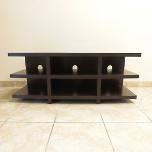Laurier Tv Entertainment Cabinet Stand Expresso Oak 60 With Regard To Most Current Indi Wide Tv Stands (View 13 of 15)