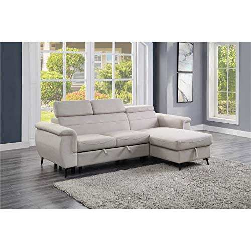 Lexicon Cadence Microfiber Reversible Sectional Sofa In For Harmon Roll Arm Sectional Sofas (View 11 of 15)