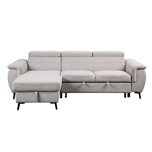 Lexicon Cadence Microfiber Reversible Sectional Sofa In Throughout Harmon Roll Arm Sectional Sofas (View 13 of 15)