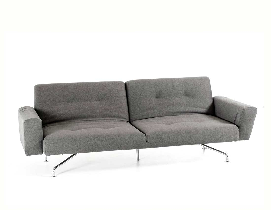 Light Grey Fabric Sofa Bed Vg233   Sofa Beds Within Ludovic Contemporary Sofas Light Gray (View 14 of 15)