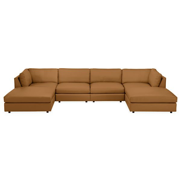 Linger Leather Modular Sectionals – – Modern Living Room Inside Room And Board Sectional Sofas (View 7 of 15)