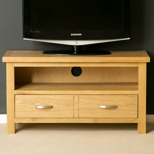 London Oak Tv Unit Stand Light Solid Wood Small Television Within Most Recently Released Corona Grey Corner Tv Stands (View 4 of 15)