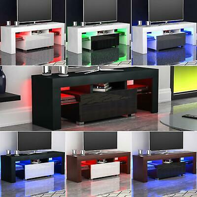 Luna Led Tv Stand Cabinet Unit 1 Drawer Gloss Matte Mdf For 2017 Led Tv Cabinets (View 4 of 15)