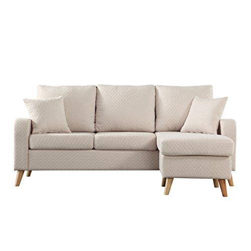 Madison Home Mid Century Modern Small Space Sectional Sofa In Verona Mid Century Reversible Sectional Sofas (View 5 of 15)