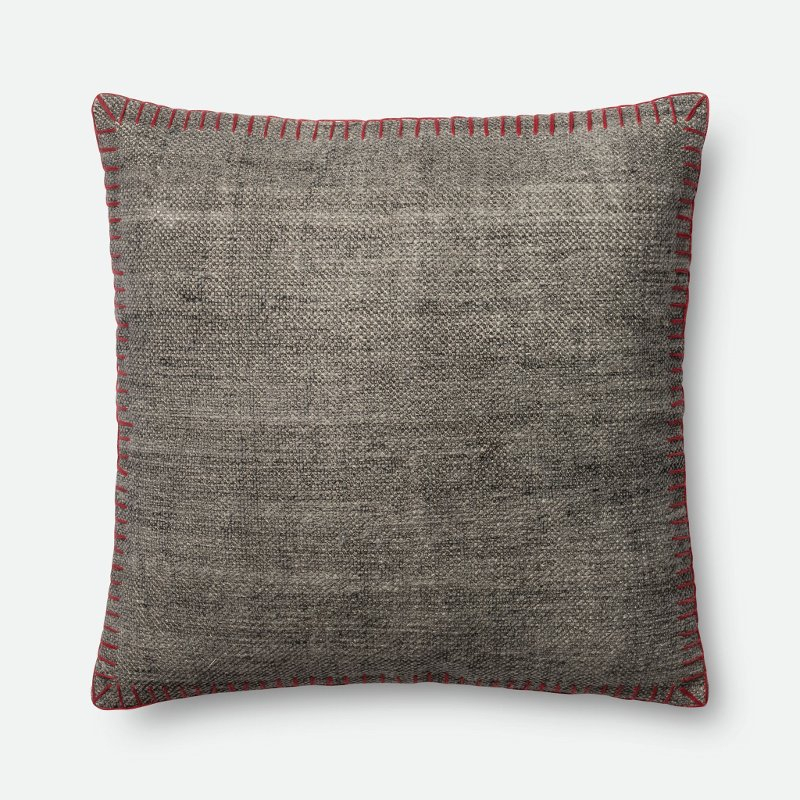 Magnolia Home Furniture Gray Throw Pillow With Red Pertaining To Magnolia Sectional Sofas With Pillows (View 11 of 15)