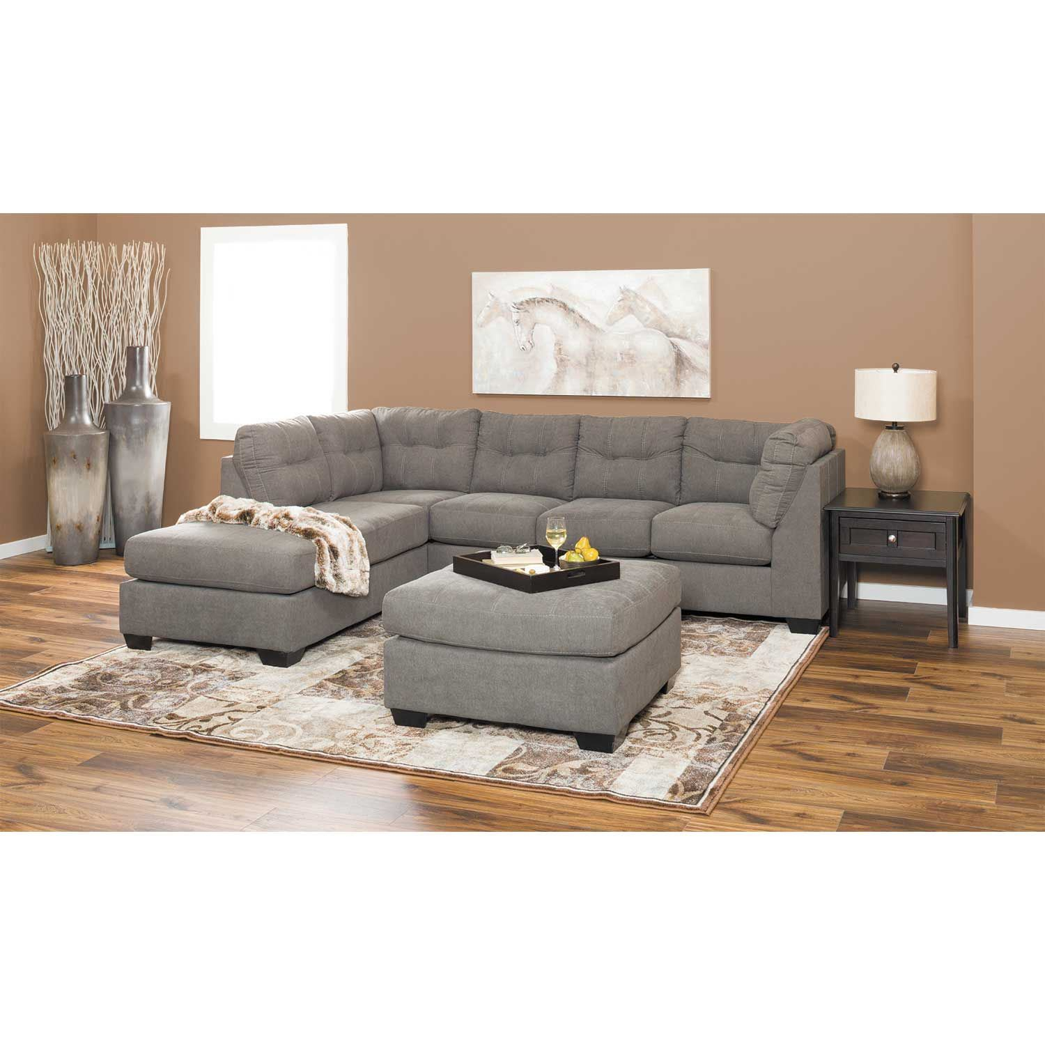 Maier Charcoal 2 Piece Sectional With Laf Chaise 4520016 With Delano 2 Piece Sectionals With Laf Oversized Chaise (View 2 of 15)
