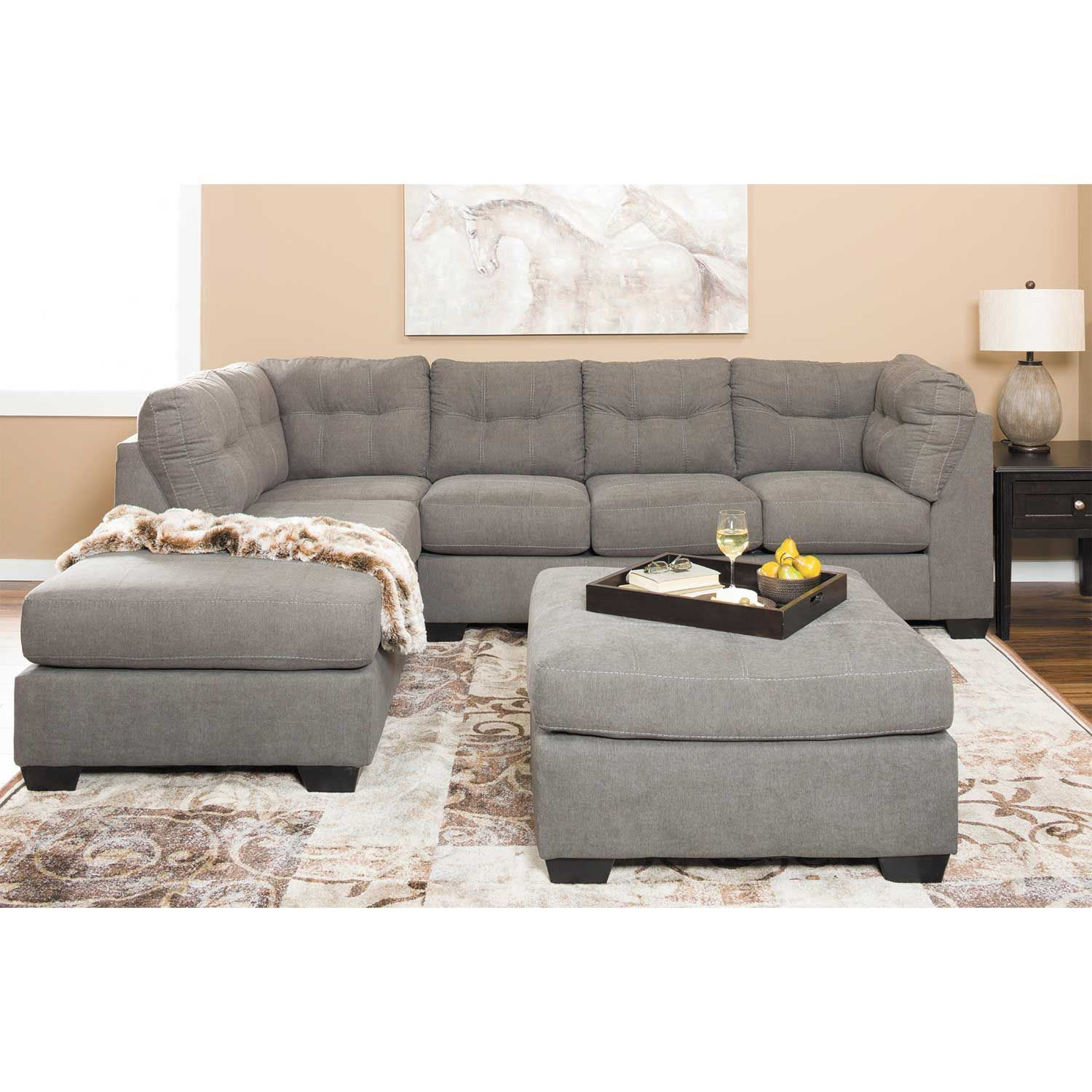 Maier Charcoal 2 Piece Sectional With Raf Chaise 4520017 Intended For Evan 2 Piece Sectionals With Raf Chaise (View 1 of 15)