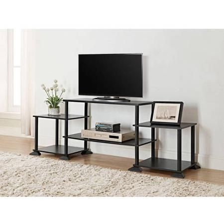 Mainstays No Tools Assembly Entertainment Center, Multiple Within Famous Mainstays 3 Door Tv Stands Console In Multiple Colors (View 4 of 15)