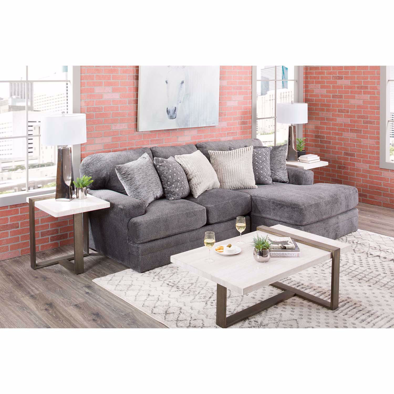 Mammoth 2 Piece Sectional With Raf Chaise | 4376 76/46 For Avery 2 Piece Sectionals With Raf Armless Chaise (View 14 of 15)