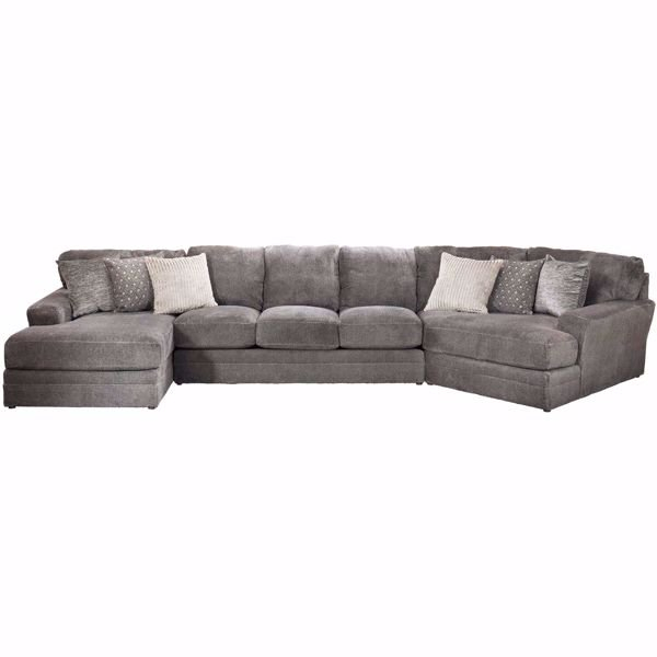 Mammoth 3 Piece Sectional With Raf Chaise And Laf Wedge In Throughout Norfolk Grey 3 Piece Sectionals With Laf Chaise (View 12 of 15)