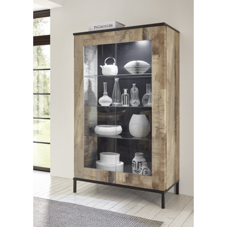 Mango Ii Two Door Display Cabinet With Led Lights (4526 Pertaining To Fashionable Casablanca Tv Stands (View 9 of 15)