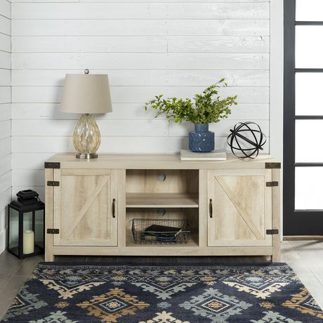 """Manor Park Farmhouse Barn Door Tv Stand For Tvs Up To 65 For Trendy Modern Farmhouse Style 58"""" Tv Stands With Sliding Barn Door (View 8 of 15)"""