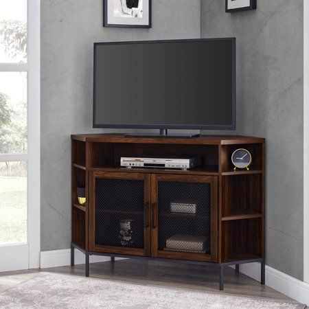 Manor Park Industrial Corner Tv Stand For Tvs Up To 55 With Regard To Most Popular Unique Corner Tv Stands (View 1 of 15)